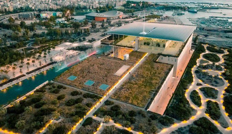 Drone view του Πάρκου ΣΝ και του κτιρίου του ΚΠΙΣΝ  (credits: ΙΣΝ/Νίκος Καρανικόλας)