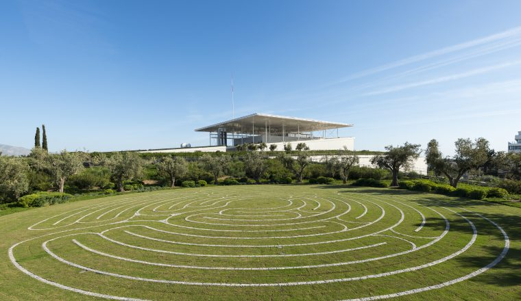 The labyrinth at the Park of Stavros Niarchos Foundation Cultural Center  (credits: SNF/Yiorgis Yerolymbos)